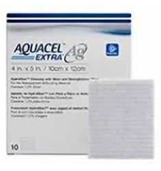 Aquacel Extra Ag (με Άργυρο) υδροινώδες επίθεμα με πλέγμα