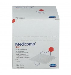 Medicomp Drain αποστειρωμένη γάζα τραχειοτομίας  6πλή   7,5x7,5cm   25x2τεμ.